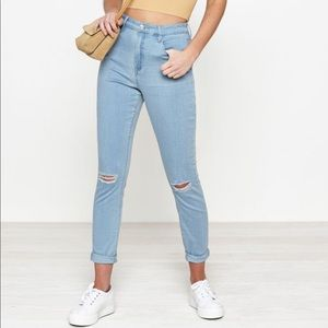 Pacsun super high rise ripped knee jeans